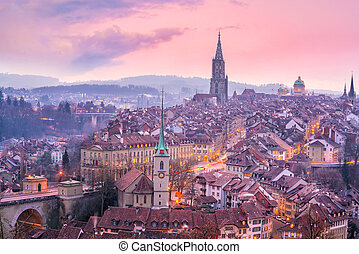 Old Town of Bern, capital of Switzerland in Europe