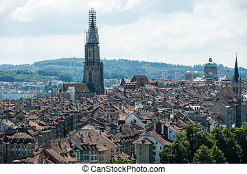 Old Town of Bern, Suisse - Overview of the old Town of Bern,...