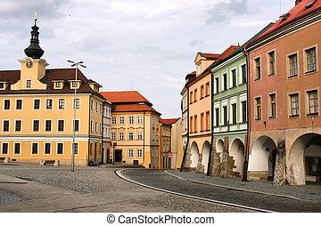 Old town of Ceske Budejovice in Czech Republic