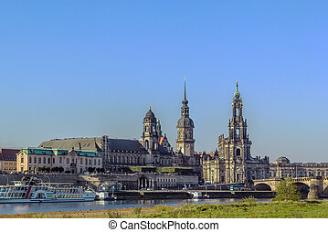 Old town of Dresden,Saxony,Germany