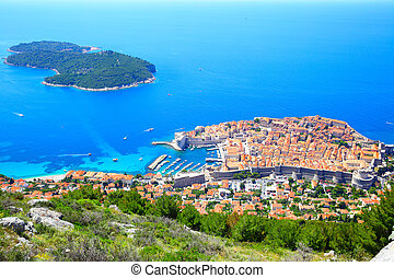 Dubrovnik and Lokrum island