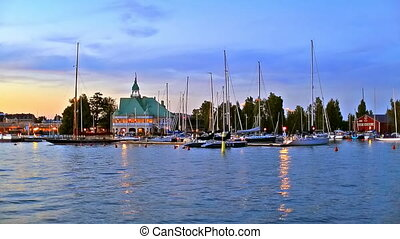 Old Town of Helsinki, Finland - Scenic summer evening...