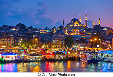 Old town of Istanbul - Fatih district and The S?leymaniye...