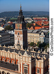 Old Town of Krakow in Poland