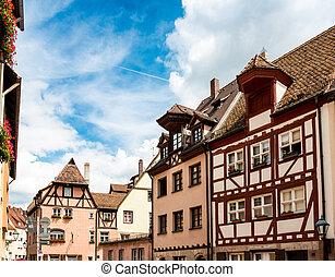 Old Town of Nuremberg, Bavaria, GERMANY
