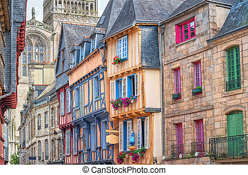 Old town of Quimper, Brittany, France