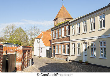 Old town of Ribe - Denmark.