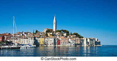 Rovinj, Croatia - Old town of Rovinj, Croatia. Istria...