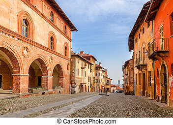 Old town of Saluzzo, Italy.