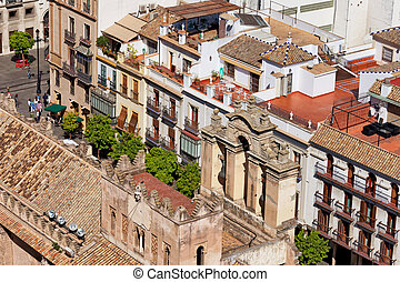 Old Town of Seville in Spain