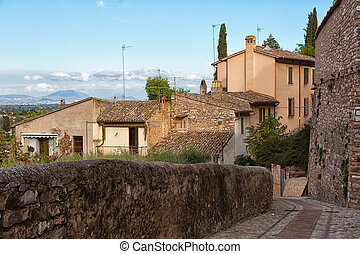 old town of Spello in Umbria, Italy
