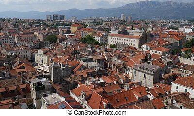 Old Town of Split, Croatia. Inside the city. Ancient architectur