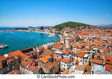 Old town of Split in Dalmatia, Croatia.