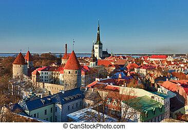 Old town of Tallinn Estonia - Capital of Estonia, Tallinn is...