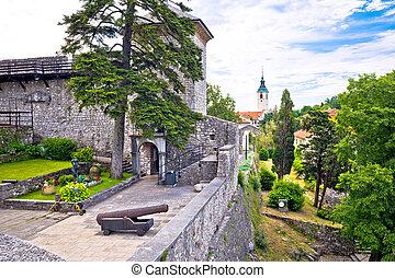 Old town of Trsat near Rijeka landmarks view, Primorje ...