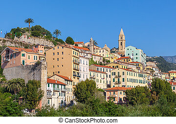 Old town of ventimiglia, Italy.