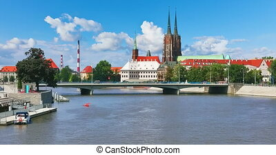 Old Town of Wroclaw, Poland - Scenic summer view of the Old...