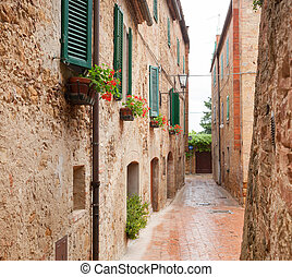Old Town Pienza in Tuscany - Glimpse of old Town Pienza in ...