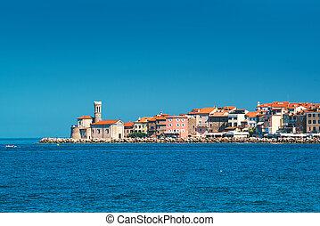 Old town Piran on Slovenian adriatic coast