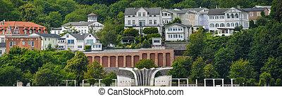 old town port sassnitz panorama ruegen architecture