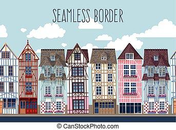 Old town seamless border