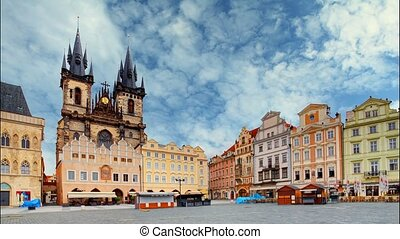 Old town square in Prague, Czech re
