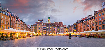 Old town square in Warsaw, Poland