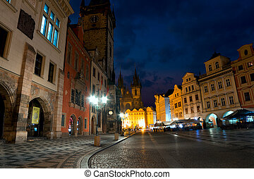Old Town Square of Prague in the Morning