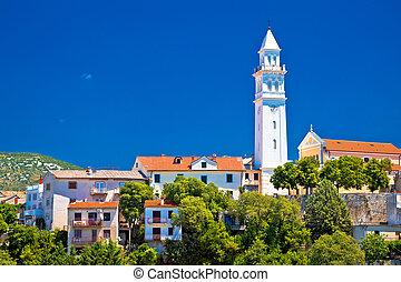 Old town tower and architecture of Novi Vinodolski