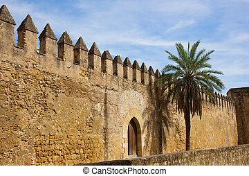 town wall of ancient Cordoba, Spain - old town wall of ...