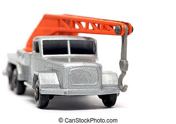 Old toy car crane