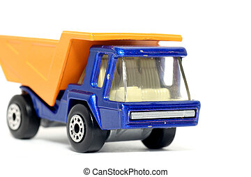 Old toy dump truck