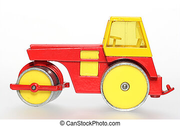Old toy road roller