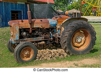 Old Tractor in farm