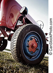 Old Tractor in low angle
