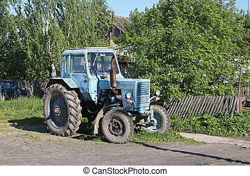 Old tractor. Russia, Moscow region.