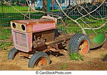 Old Tractor - Very old tractor at a Kibbutz children's ...