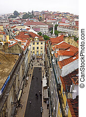 Old traditional city of Lisbon in Portugal