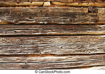 old traditional log home wall detail view