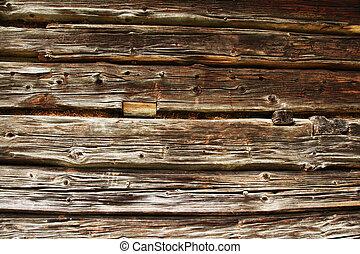 traditional log home wall