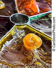 Turkish Ottoman handmade stick candy