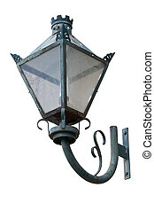Old traditional wall mount street lamp