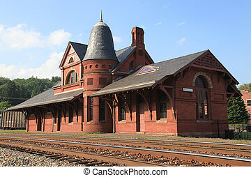 Old train depot - Small town old train depot located in ...