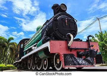 Old train. - Old train station in Kanchanaburi, Thailand