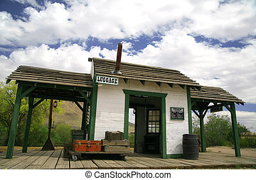 old train station in wild west
