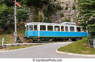 Old tram car in San Marino