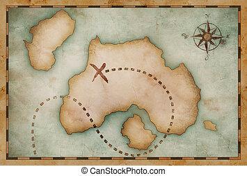 old treasure vintage map