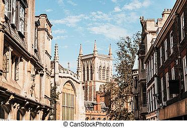 Old Trinity street in Cambridge, UK.