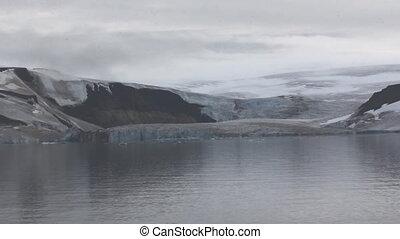 Old trough glacier on Payer island, Franz-Joseph Land.