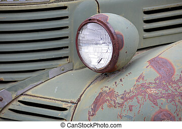 Old truck head lamp